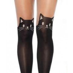 Adorable Black Kitty Cat Pantyhose 3 Pack LABEShops Home Decor, Fashion and Jewelry