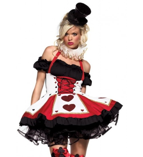 Pretty Playing Card Adult Queen of Hearts Costume at LABEShops, Home Decor, Fashion and Jewelry