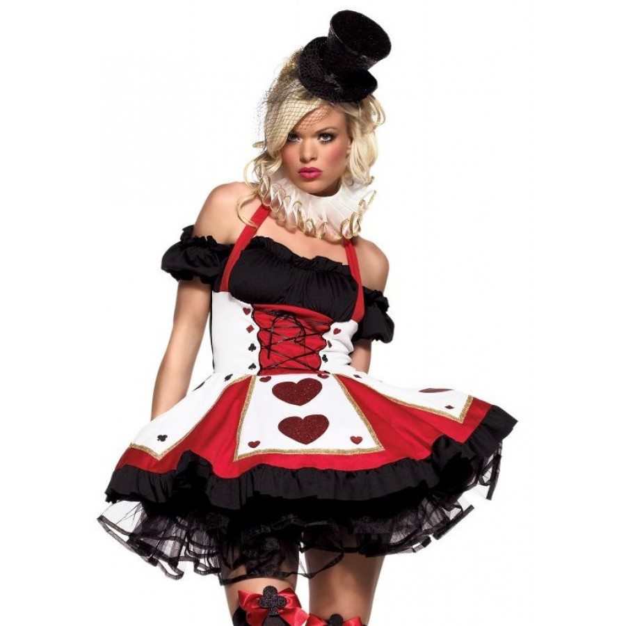 sc 1 st  LABEShops & Pretty Playing Card Adult Queen of Hearts Costume
