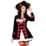 Charming Pirate Captain Adult Womens Costume at LABEShops, Home Decor, Fashion and Jewelry