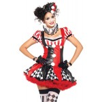 Harlequin Clown Cutie Adult Womens Costume at LABEShops, Home Decor, Fashion and Jewelry