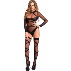 Cross Strap Teddy and Stockings Set LABEShops Home Decor, Fashion and Jewelry