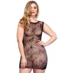 Black Floral Lace Curvy Size Chemise LABEShops Home Decor, Fashion and Jewelry