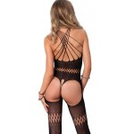 Twisted Strap Opaque Black Bodystocking at LABEShops, Home Decor, Fashion and Jewelry