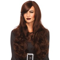 Extra Long Brown Wavy Wig