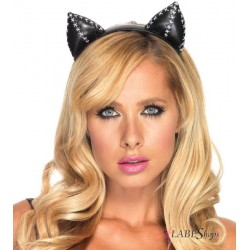 Stitched Kitty Cat Ears