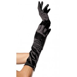 Black Satin Elbow Length Gloves LABEShops Home Decor, Fashion and Jewelry