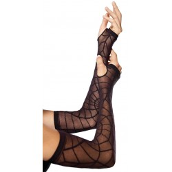 Spiderweb Sheer Black Arm Warmers LABEShops Home Decor, Fashion and Jewelry