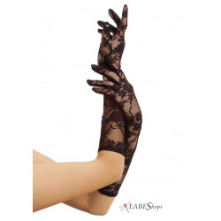 Black Elbow Length Lace Gloves LABEShops Home Decor, Fashion and Jewelry