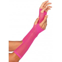 Neon Pink Triangle Net Fingerless Gloves LABEShops Home Decor, Fashion and Jewelry