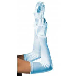 Light Blue Satin Extra Long Opera Gloves LABEShops Home Decor, Fashion and Jewelry
