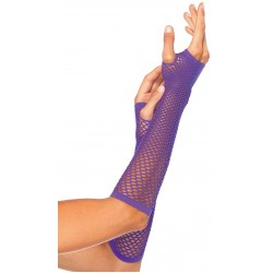 Neon Purple Triangle Net Fingerless Gloves LABEShops Home Decor, Fashion and Jewelry
