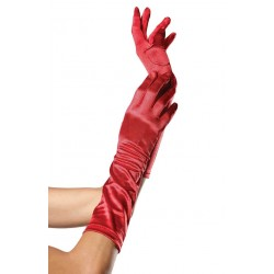 Red Satin Elbow Length Gloves LABEShops Home Decor, Fashion and Jewelry