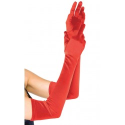 Red Satin Extra Long Opera Gloves LABEShops Home Decor, Fashion and Jewelry