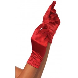 Red Wrist Length Satin Gloves LABEShops Home Decor, Fashion and Jewelry