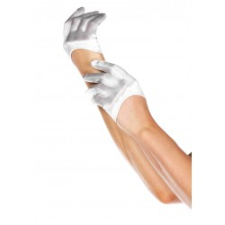 Cropped Satin White Half Glove LABEShops Home Decor, Fashion and Jewelry