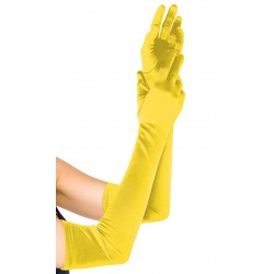 Yellow Satin Extra Long Opera Gloves LABEShops Home Decor, Fashion and Jewelry