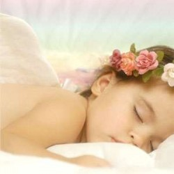 Sleeping Angel Greeting Card with CD LABEShops Home Decor, Fashion and Jewelry