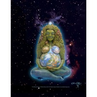 Millennial Gaia Mother Earth Full Color Poster