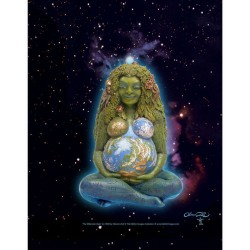 Millennial Gaia Mother Earth Full Color Poster LABEShops Home Decor, Fashion and Jewelry