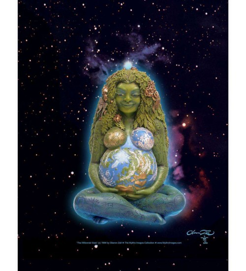 Millennial Gaia Mother Earth Full Color Poster at LABEShops, Home Decor, Fashion and Jewelry