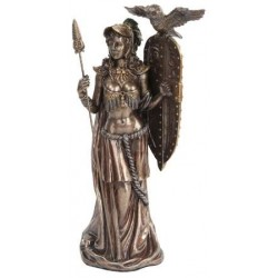 Athena Standing with Shield Greek Bronze Statue LABEShops Home Decor, Fashion and Jewelry