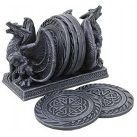 Dual Dragon Celtic Knot Coaster Set