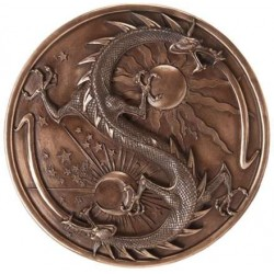 Double Dragon Alchemy Bronze Resin Plaque LABEShops Home Decor, Fashion and Jewelry