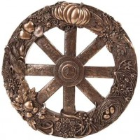 Pagan Wheel of the Year Bronze Finish Wall Plaque