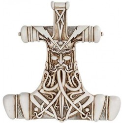 Mjolnir Thor Hammer Bone Resin Plaque LABEShops Home Decor, Fashion and Jewelry Direct to You