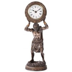 Atlas Holding the World Table Clock LABEShops Home Decor, Fashion and Jewelry