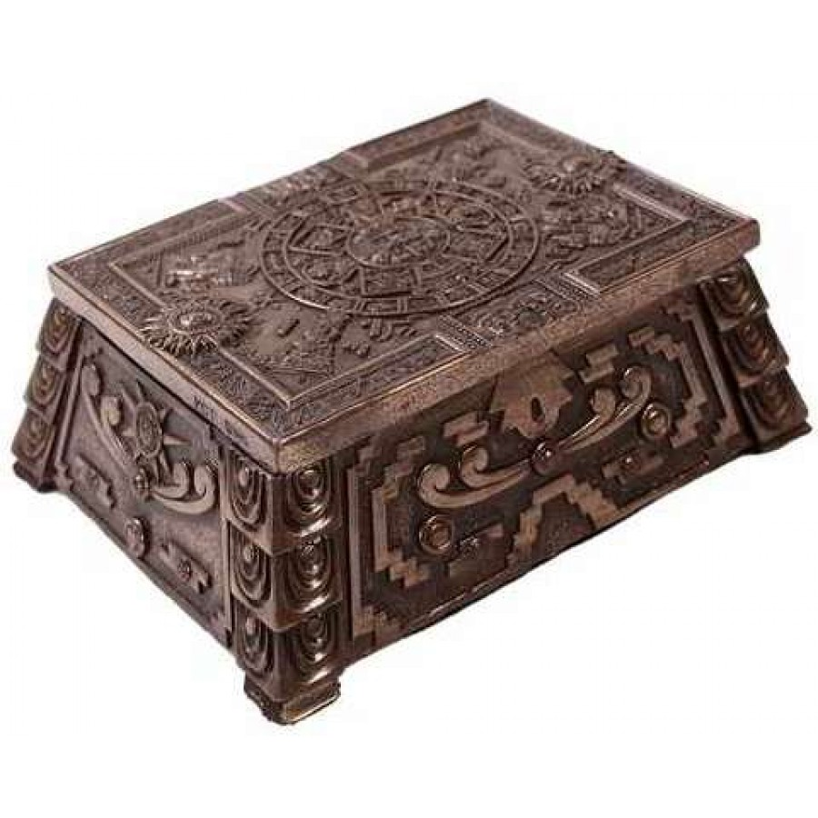 Aztec Bronze Resin Trinket Box At LABEShops, Home Decor, Fashion And Jewelry