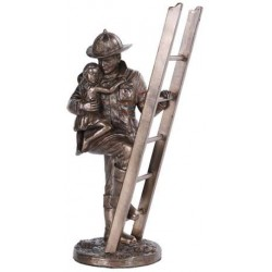 Fireman Rescue Statue LABEShops Home Decor, Fashion and Jewelry