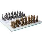 Medieval Knights Chess Set with Glass Board at LABEShops, Home Decor, Fashion and Jewelry