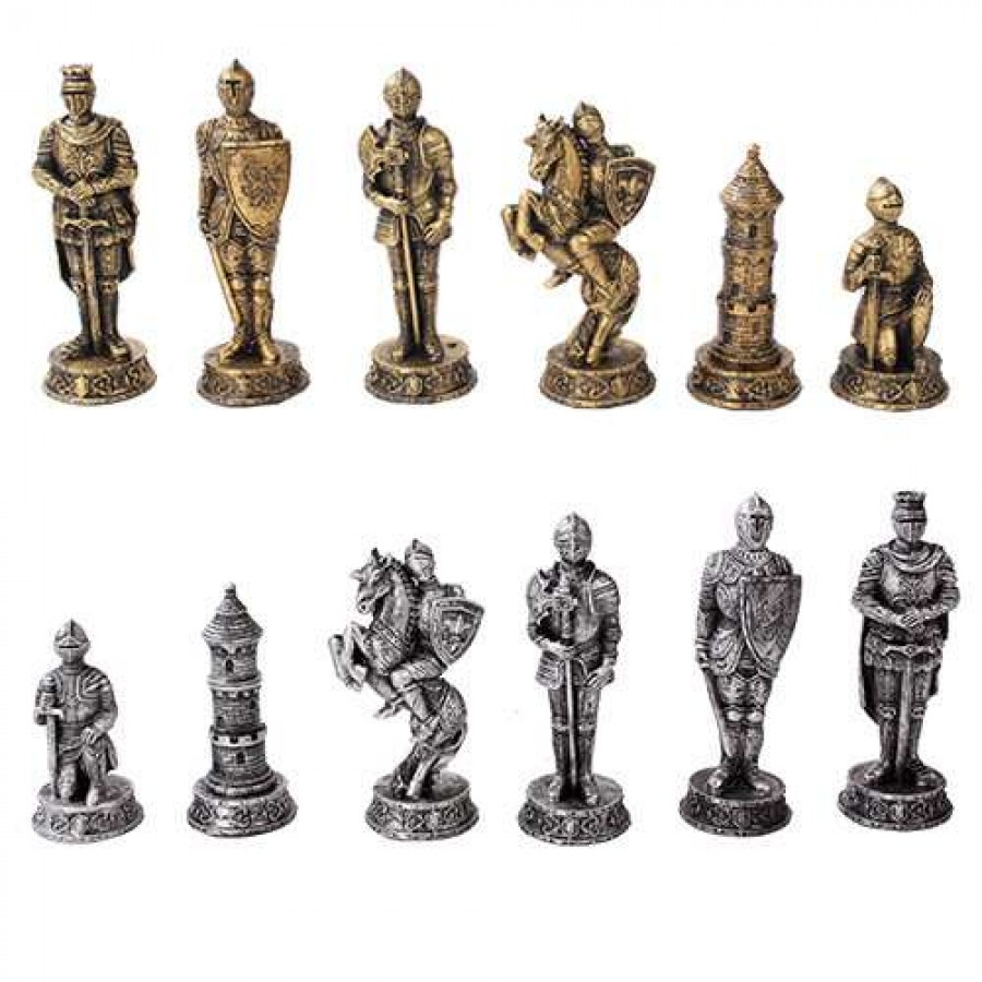 Well-liked Medieval Knights Chess Set with Glass Board - 3 3/4 Inch High  QW17