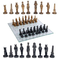 Egyptian Chess Set with Glass Board LABEShops Home Decor, Fashion and Jewelry