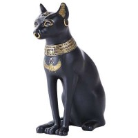 Bastet Small Egyptian Cat Statue