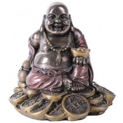 Good Fortune Buddha Bronze Resin Statue