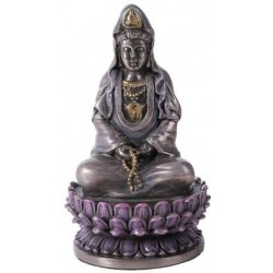 Kuan Yin Small Bronze Resin LABEShops Home Decor, Fashion and Jewelry