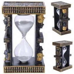 Egyptian King Tut and Nefertiti Sand Timer LABEShops Home Decor, Fashion and Jewelry