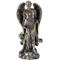 Archangel Saeltiel Small Bronze Christian Statue LABEShops Home Decor, Fashion and Jewelry