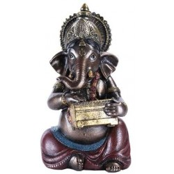 Ganesha with Treasure Chest Small Bronze Resin Statue LABEShops Home Decor, Fashion and Jewelry Direct to You