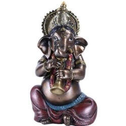 Ganesha with Horn Small Bronze Resin Statue LABEShops Home Decor, Fashion and Jewelry Direct to You