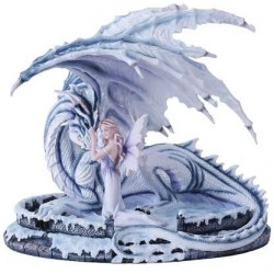 Ice Dragon with Fairy Statue LABEShops Home Decor, Fashion and Jewelry