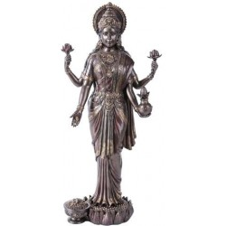 Lakshmi Hindu Goddess of Luck and Wealth Bronze Resin Statue LABEShops Home Decor, Fashion and Jewelry Direct to You