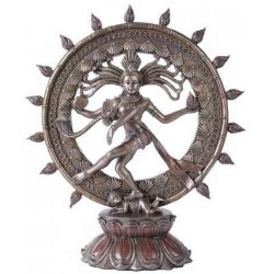 Shiva Nataraja Lord of Dancers Hindu Bronze Resin Statue LABEShops Home Decor, Fashion and Jewelry Direct to You