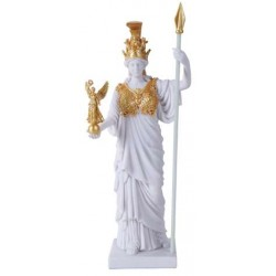 Athena, Greek Goddess of War White and Gold Statue LABEShops Home Decor, Fashion and Jewelry
