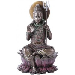 Lord Shiva Seated Bronze Resin Hindu God Statue LABEShops Home Decor, Fashion and Jewelry Direct to You