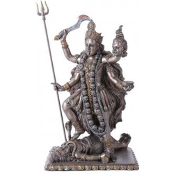 Kali Bronze Resin Hindu Goddess of Destruction Statue LABEShops Home Decor, Fashion and Jewelry Direct to You
