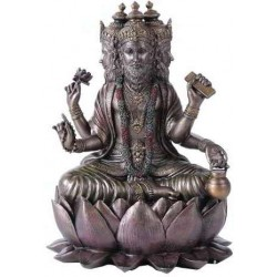 Brahma Bronze Resin Hindu God Statue LABEShops Home Decor, Fashion and Jewelry Direct to You
